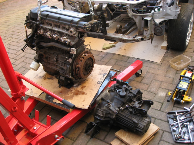 Gearbox seperated from engine