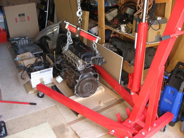 Engine stored away